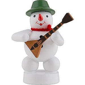 Small Figures & Ornaments Zenker Snowmen Snowman Musician with Balalaika - 8 cm / 3 inch