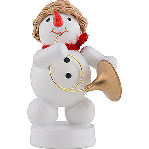 Small Figures & Ornaments Zenker Snowmen Snowman Musician with Bugle - 8 cm / 3 inch