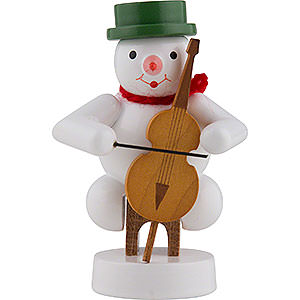 Small Figures & Ornaments Zenker Snowmen Snowman Musician with Cello - 8 cm / 3 inch
