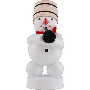 Small Figures & Ornaments Zenker Snowmen Snowman-Musician with Clarinet - 8 cm / 3 inch