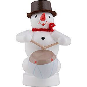 Small Figures & Ornaments Zenker Snowmen Snowman Musician with Drum - 8 cm / 3 inch