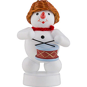 Small Figures & Ornaments Zenker Snowmen Snowman Musician with Drums - 8 cm / 3 inch