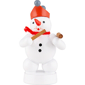 Small Figures & Ornaments Zenker Snowmen Snowman Musician with Hammered Dulcimer - 8 cm / 3.1 inch