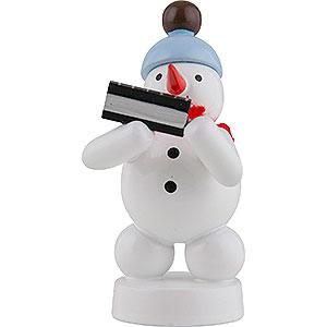 Small Figures & Ornaments Zenker Snowmen Snowman Musician with Harmonica - 8 cm / 3 inch