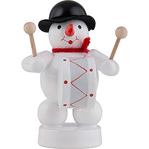 Small Figures & Ornaments Zenker Snowmen Snowman Musician with Kettledrum - 8 cm / 3 inch