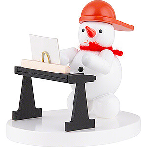 Small Figures & Ornaments Zenker Snowmen Snowman Musician with Keyboard - 8 cm / 3.1 inch