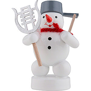Small Figures & Ornaments Zenker Snowmen Snowman Musician with Lyre - 8 cm / 3 inch