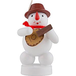 Small Figures & Ornaments Zenker Snowmen Snowman Musician with Mandolin - 8 cm / 3 inch