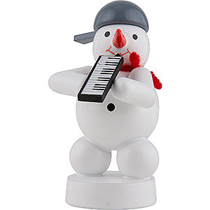 Small Figures & Ornaments Zenker Snowmen Snowman Musician with Melodica - 8 cm / 3 inch