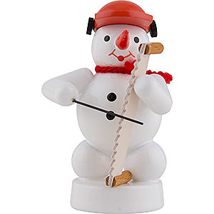 Small Figures & Ornaments Zenker Snowmen Snowman Musician with Musical Saw - 8 cm / 3 inch