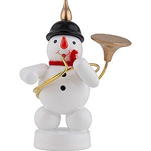 Small Figures & Ornaments Zenker Snowmen Snowman Musician with Sousaphone - 8 cm / 3 inch