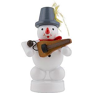 Small Figures & Ornaments Zenker Snowmen Snowman Musician with Symphonia - 8 cm / 3 inch
