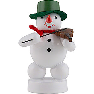 Small Figures & Ornaments Zenker Snowmen Snowman Musician with Violin - 8 cm / 3 inch