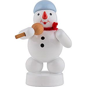 Small Figures & Ornaments Zenker Snowmen Snowman Sänger with Microphone - 8 cm / 3 inch