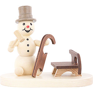 Small Figures & Ornaments Wagner Snowmen Snowman Sleigh Builder - 8 cm / 3.1 inch