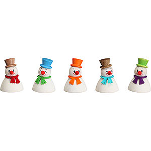 Small Figures & Ornaments everything else Snowman Teeter Classic, Set of 5 - 4 cm / 1.6 inch