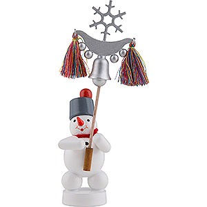 Small Figures & Ornaments Zenker Snowmen Snowman with Bell Tree - 13 cm / 5 inch