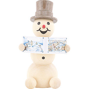 Small Figures & Ornaments Wagner Snowmen Snowman with Book - 8 cm / 3.1 inch