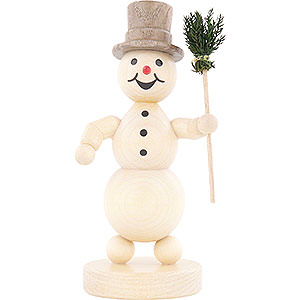 Small Figures & Ornaments Wagner Snowmen Snowman with Broom - 12 cm / 4.7 inch