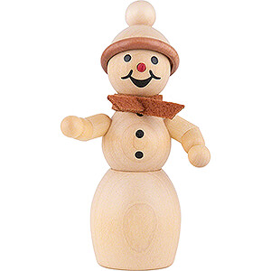 Small Figures & Ornaments Wagner Snowmen Snowwoman with Scarf  - 10 cm / 3.9 inch
