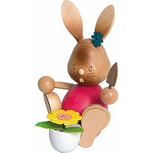 Small Figures & Ornaments Easter World Snubby Bunny Gardener - 12 cm / 4.7 inch