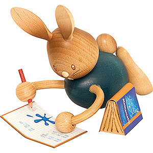 Small Figures & Ornaments Kuhnert Stupsi Rabbits Snubby Bunny Home Schooling with Exercise Book - 12 cm / 4.7 inch
