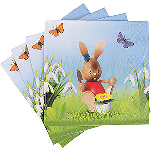 Small Figures & Ornaments Easter World Snubby Bunny Napkins Gardener 12 pcs.