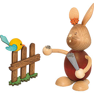 Small Figures & Ornaments Easter World Snubby Bunny with Bird - 12 cm / 4.7 inch