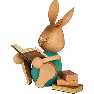 Small Figures & Ornaments Easter World Snubby Bunny with Books - 12 cm / 4.7 inch
