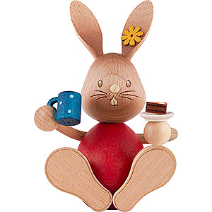 Small Figures & Ornaments Easter World Snubby Bunny with Cake - 12 cm / 4.7 inch