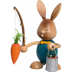 Small Figures & Ornaments Easter World Snubby Bunny with Carrot Fisher - 12 cm / 4.7 inch