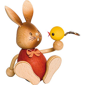 Small Figures & Ornaments Easter World Snubby Bunny with Chick - 12 cm / 4.7 inch
