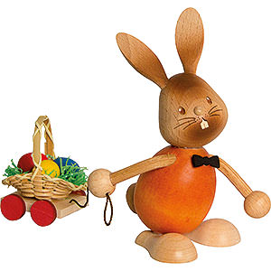 Small Figures & Ornaments Easter World Snubby Bunny with Egg Cart - 12 cm / 4.7 inch