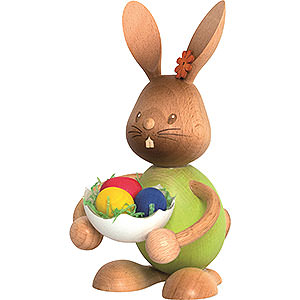 Small Figures & Ornaments Easter World Snubby Bunny with Eggshell - 12 cm / 4.7 inch