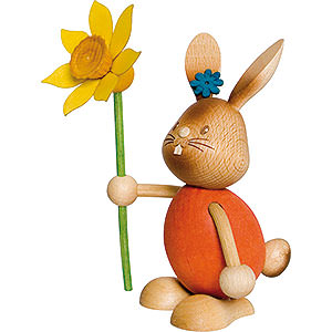 Small Figures & Ornaments Easter World Snubby Bunny with Flower - 12 cm / 4.7 inch