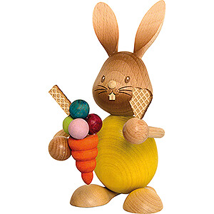 Small Figures & Ornaments Easter World Snubby Bunny with Ice Cream - 12,5 cm / 4.9 inch