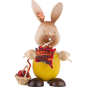 Small Figures & Ornaments Easter World Snubby Bunny with Knitting - 12 cm / 4.7 inch