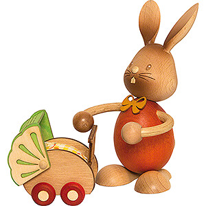 Small Figures & Ornaments Easter World Snubby Bunny with Pram - 12 cm / 4.7 inch