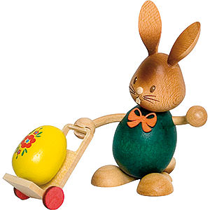 Small Figures & Ornaments Easter World Snubby Bunny with Trolley - 12 cm / 4.7 inch