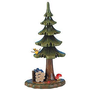 Kleine Figuren & Miniaturen Hubrig Blumenkinder Sommerbaum mit Holzstapel - 16 cm
