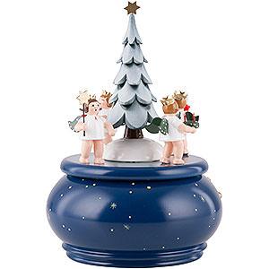 Spieldosen Weihnachten Spieldose - Adventengel mit Baum - 22 cm