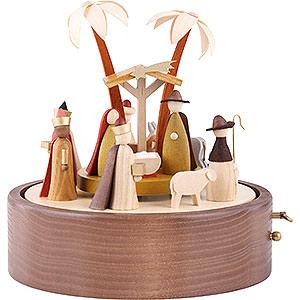 Spieldosen Weihnachten Spieldose Christi Geburt, 28er Spielwerk Stille Nacht - 22 cm
