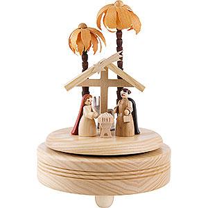 Spieldosen Weihnachten Spieldose Christi Geburt - hell - 18 cm