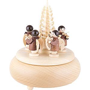 Spieldosen Weihnachten Spieldose Engel natur - 16 cm