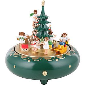 Spieldosen Weihnachten Spieldose Engelheimlichkeit Stille Nacht - 18 cm