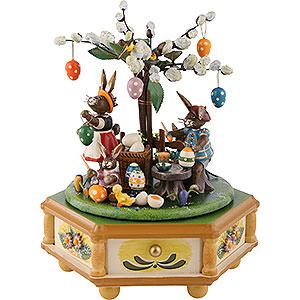 Spieldosen Jahreszeiten Spieldose Fleißige Osterhasen - 23 cm