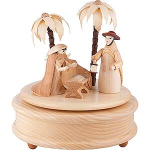Spieldosen Weihnachten Spieldose Heilige Familie - 17 cm