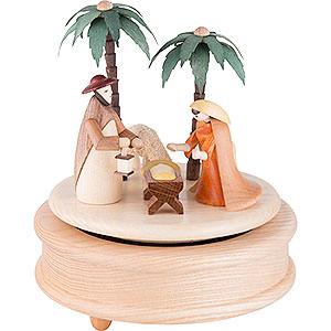 Spieldosen Weihnachten Spieldose - Krippe bunt - 17 cm