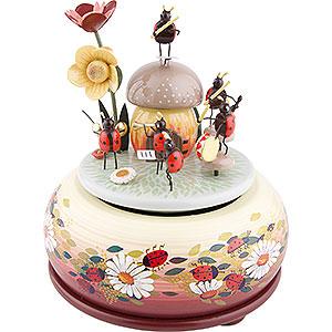 Spieldosen Diverse Motive Spieldose Musizierende Käfer - 15 cm