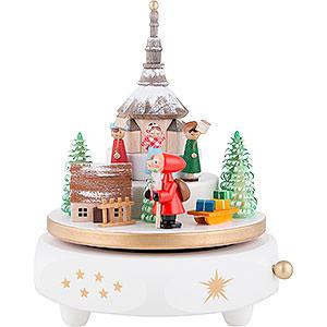 Spieldosen Weihnachten Spieldose Seiffener Christmette - 17 cm